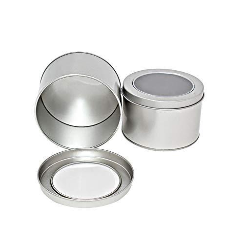 Rocita 1pc Argent Petit Rond en Aluminium Baume à lèvres d'étain de Stockage des conteneurs Jar avec Bouchon à vis pour Baume à lèvres Bougies cosmétiques ou thé (Argent)