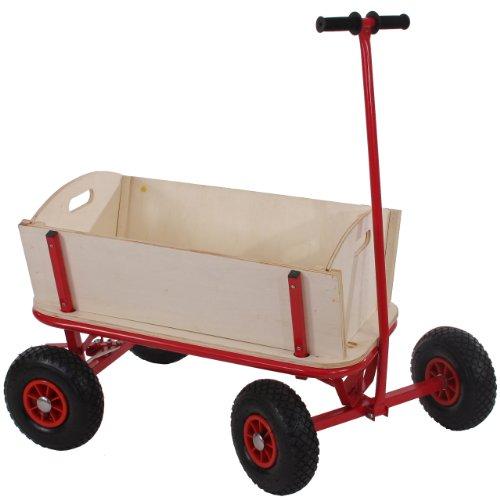 Mendler Bollerwagen Handwagen Leiterwagen Oliveira ~ ohne Sitz, mit Bremse, ohne Dach
