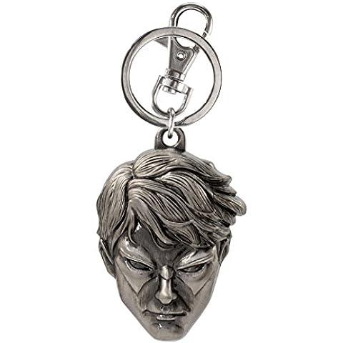 Portachiavi in metallo–DC Comics–Notte Ala Testa nuovi giocattoli regali ufficiale (Metallo Monogram)