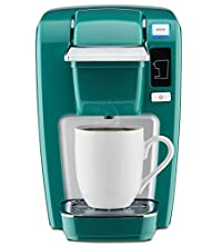 Jade : Keurig K15 Single Serve Compact K-Cup Pod Coffee Maker, Jade