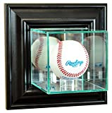 Perfect Cases MLB Wand montiert Baseball Display Glas Fall, schwarz