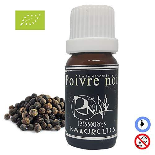 Ressources Naturelles - Huile Essentielle Poivre Noir Bio 10 Ml
