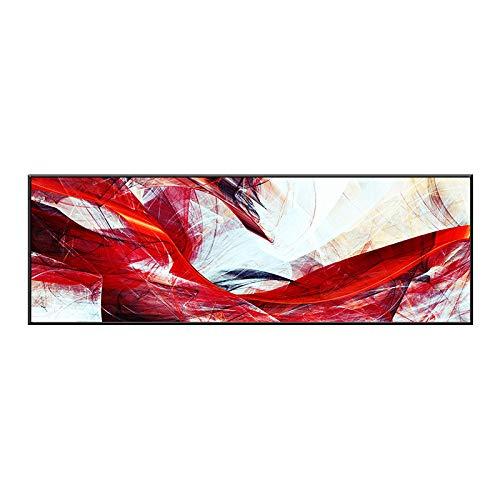 WSNDGWS Decoración del hogar Dormitorio Mesita de Noche Pintura Banner Lienzo Abstracto Sin Marco E5 50x180cm