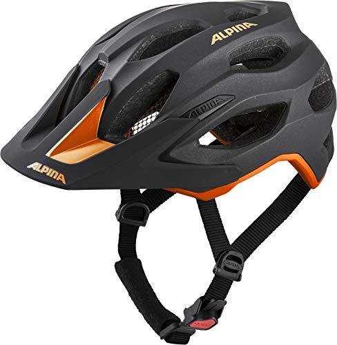 Alpina Unisex- Erwachsene Carapax 2.0 Fahrradhelm, Black-orange, 52-57 cm