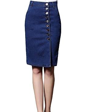Mujer Denim Azul Minifalda Vaqueros Informal