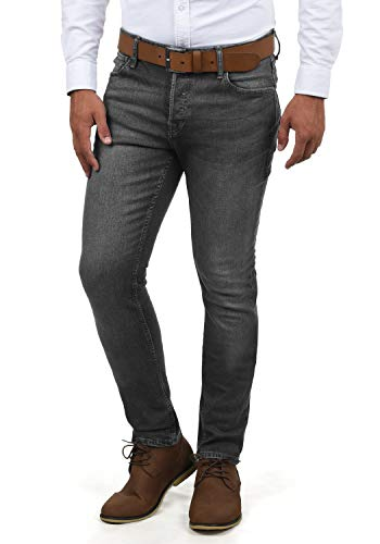 JACK & JONES Ubbo Herren Jeans Hose Denim Stretch Slim Fit, Größe:W34/32, Farbe:Grey Denim