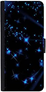 Snoogg Stars And Circles Graphic Snap On Hard Back Leather + Pc Flip Cover Sa...