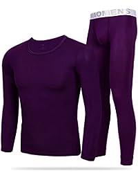 Juleya Uomo Set Intimo Termico - Maniche Lunghe T-Shirt + Pantaloni Invernali  Caldo Confortevole 1f4bbbc18680