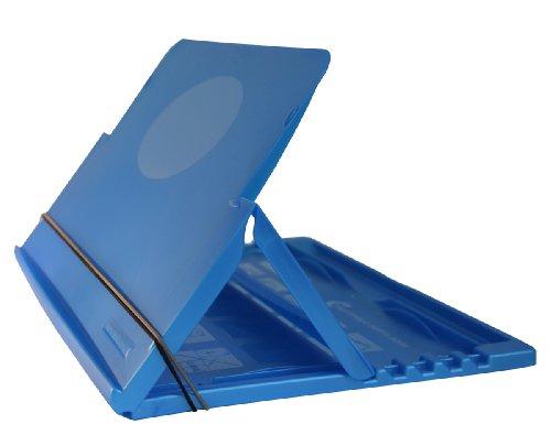 Leggio Portabook Leggicomodo per ufficio: supporto per pc portatili tablet libri notebook stand - colore: blu perlato