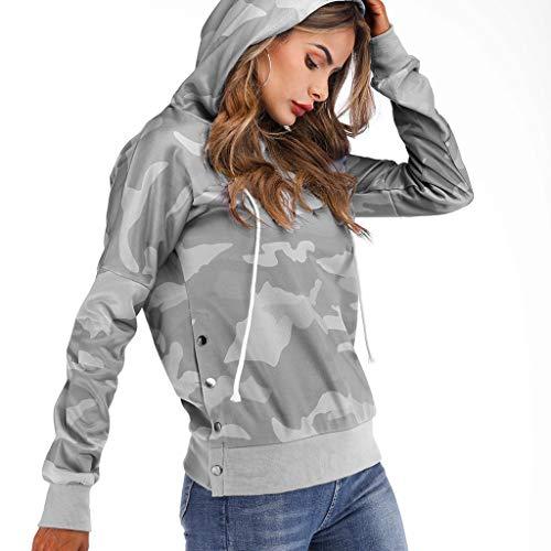 SoonerQuicker Mode Frauen Freizeit Pullover Langarm Stand Krawatte ReißVerschluss Sweatshirt Pullover Grün L -
