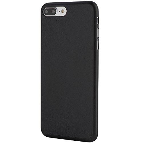 iPhone 7 Plus Hülle, Dünnste Leder Hülle Ultradünn Leicht Schmal Minimal Anti-Kratz Schutz Case - Für Apple iPhone 7 Plus | totallee (Braun) Schwarz