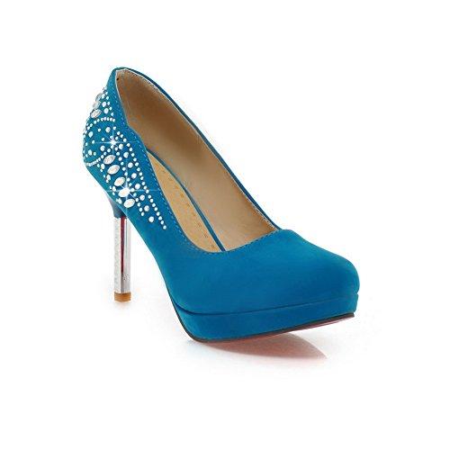 Adee , Damen Pumps Blau