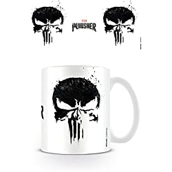 The Punisher el Castigador, café, cerámica,, 7,9x11x9,3cm