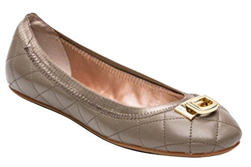 donna-karan-dkny-ballet-flats-bella-with-d-lock-metallic-logo-quilted-nappa-leather-ladies-round-toe