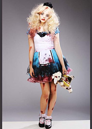 Damen Halloween verzauberte Zombie Tutu Alice Kostüm XL (UK 14-16)