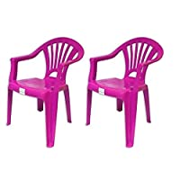 Royle Plastic Chairs Stackable Kids Indoor or Outdoor Use Purple Blue Pink or Green