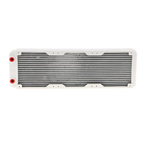 F Fityle G1 / 4 Wasserkühlung Heizkörper Aluminium Computer CPU Kühlung Radiator 18 Aluminium Rohre Wärmeaustauscher - Silber - 360mm