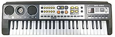 Electronic Keyboard 49 Keys with Microphone Karaoke Childrens Musical Instrument MQ-4911