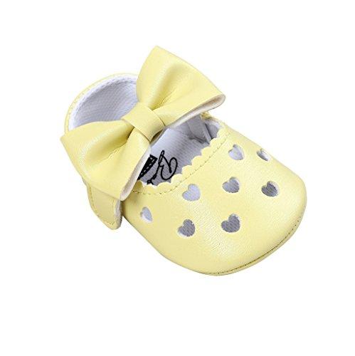 Gold-kinder Socken (Auxma Baby schuhe mädchen Bowknot-lederner Schuh-Turnschuh Anti-Rutsch weiches Solekleinkind für 0-18 Monate (12(6-12M), CC))