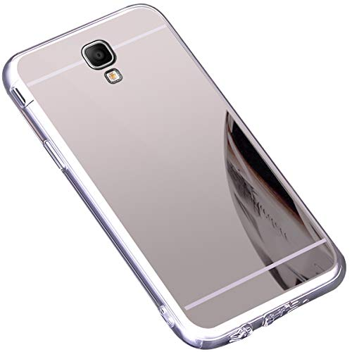 Surakey Cover Samsung Galaxy Note 3, Effetto Specchio Custodia in Silicone Brillante Colore di Placcatura Lusso Mirror Case Antiurto TPU Bumper Ultra Sottile Protettiva Cover per Galaxy Note 3,Argento