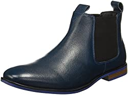 Bata Mens Eric Blue Boots - 9 UK/India (43 EU) (8049192)