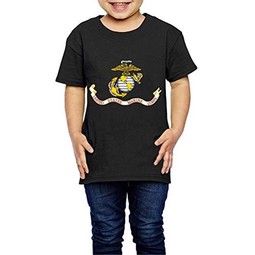 United States Marine Corps Crew Neck Short Sleeve T Shirt 2-6 Toddler Kids (United States Marine Corps Shirts)