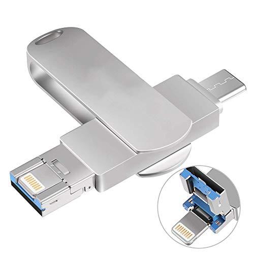 Preisvergleich Produktbild GXWLWXUP OTG USB-Flash-Laufwerk Memory Stick U-Laufwerk USB-Stick Typ C Kompatibel für Android / iOS iPhone iPad MAC USB 3.0 Externer Speicher (Size : 265GB)
