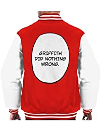 Cloud City 7 Griffith Did Nothing Wrong Berserk Mens Varsity Jacket