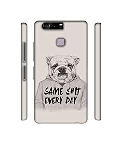 NattyCase Dog Design 3D Printed Hard Back Case Cover for Huawei P9