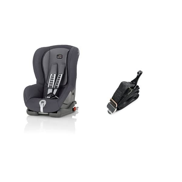 Britax Römer DUO PLUS Group 1 (9-18kg) Car Seat & DUO PLUS Top Tether Kit - Storm Grey Britax Römer This versatile car seat can be installed with the 3-point seat belt or ISOFIX and Top Tether (Top Tether Included) Comfort without compromise - deep, padded side wings and multi-position recline Pivot link system to reduce forward movement in the event of an accident 1