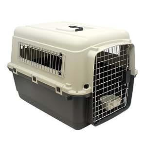 Hund und Katzen Transportbox Tiertransporter Hundebox LTB70 Beige Grau