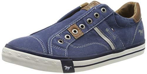 MUSTANG Herren 4072-403-800 Slip On Sneaker, Blau (Dunkelblau 800), 43 EU
