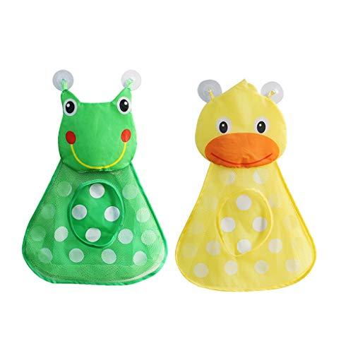 hahuha Toy  2 Stücke Baby Badewanne Spielzeug Mesh Ente Aufbewahrungstasche Organizer Halter Bad Organizer (Schönheits-ausrüstungs-halter)