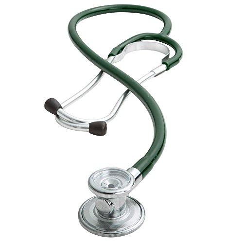 ADC 647 Sprague-1 Ad scope Stethoskop mit 5 austauschbaren Bruststücken, dunkelgrün, 1