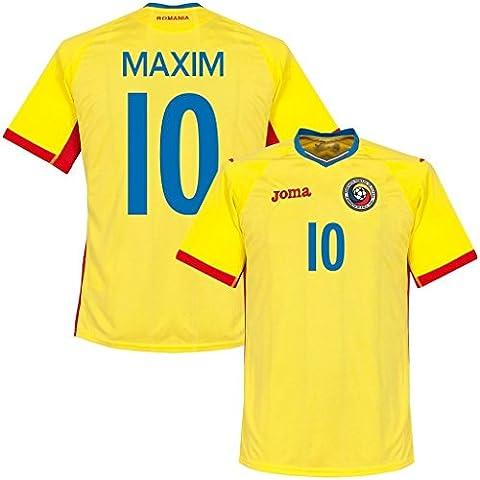 Generic 20162017Rumania 10Alexandru Maxim Home Jersey de fútbol en amarillo, hombre, amarillo,
