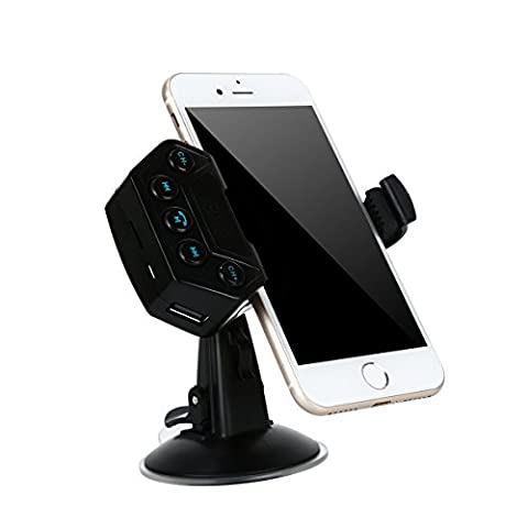 FM Transmitter Funk Auto Bluetooth-Sender mit digitaler Anzeige und Grip Handy Halterung 360Grad Handy Saugnapf/Klammer Halterung Handy KFZ Halterung Und KFZ Ladegerät