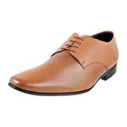 Mochi Mens Tan Leather Formal Shoes - 7 UK (19-3106)