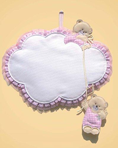 Coccarda nuvola 28x26 cm (rosa)