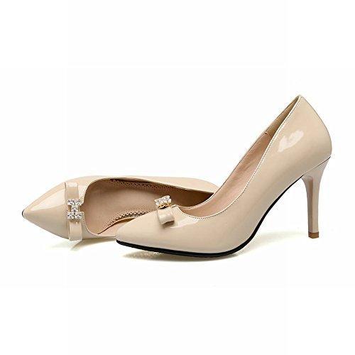Mee Shoes Damen spitz mit Strass high heels Pumps Aprikose
