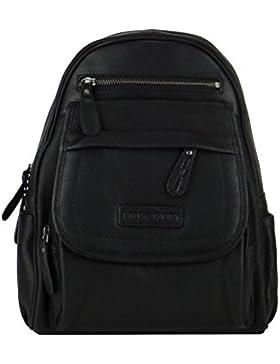 Hill Burry Rucksack, Lederrucksack,Vintage, Backpack, Tasche schwarz
