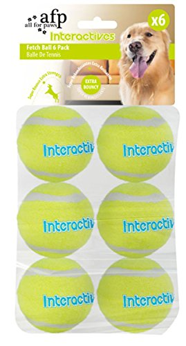 All For Paws Interactives Fetch Balls for Dogs 6-Pieces, 19.09 kg 1