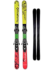 540 Ski CONCEPT 153 cm red green + Bindung Allround Carving + Montage