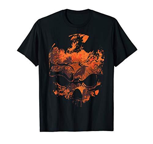 Kinder Kostüm The Crow - Schädel Crow Kostüm Einfach Gruseliges Halloween Outfit T-Shirt
