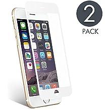 iPhone 6 /iPhone 6s Protector de Pantalla, aiMaKE 3D Pantalla Completa Cristal Templado Pantalla protectora Anti Blu Ray,cubre la pantalla completa perfectamente para iPhone 6/6s Blanco