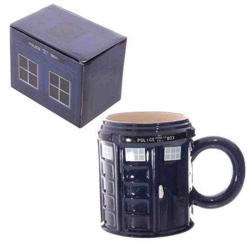 Rotonda in ceramica, motivo: Doctor Who Police Box Mug. Mug., altezza 10,5 x 14,5 cm cm