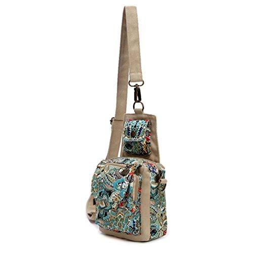 Chang Spent La nuova tendenza delle donne borsa piccola piazza del sacchetto di petto Messenger borsa a tracolla (tre opzioni di colore) , c c