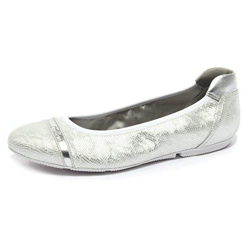 B1792 ballerina donna HOGAN WRAP FASCETTA scarpa argento shoes women [40]
