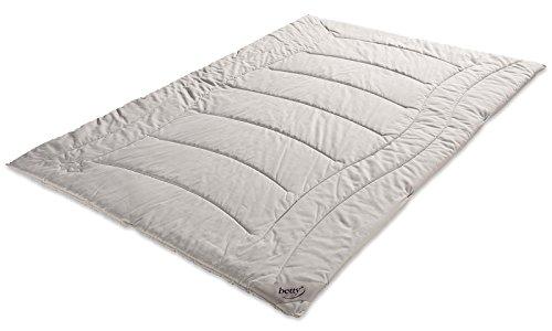 BETTY cammello capelli trapuntato letto, bianco Duo, bianco, 200 x 200 cm