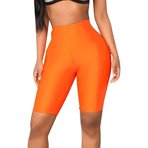 Yesmile Damen Leggings Fitness Kurze Hosen Fahrrad Yoga Pants Hohe Taille Atmungsaktive Sportbekleidung für Yoga, Fitness, Zuhause oder Alltägliches Leben