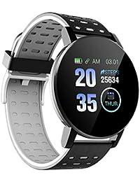 Tickas 119plus 1.3in Relojes Inteligentes Reloj de monitoreo de frecuencia cardíaca Relojes Deportivos Pulsera Reloj Inteligente a Prueba de Agua